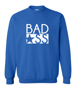 blue bad ass sweatshirt
