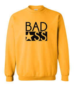 yellow bad ass sweatshirt