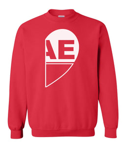 red BAE matching unisex Valentines day sweatshirt for couples