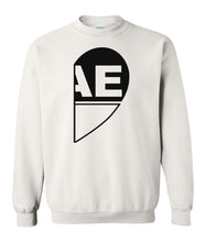 Load image into Gallery viewer, white BAE matching unisex Valentines day sweatshirt for couples