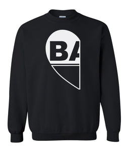 black BAE matching unisex Valentines day sweatshirt for couples