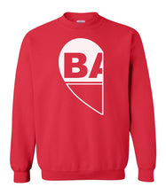 Load image into Gallery viewer, red BAE matching unisex Valentines day sweatshirt for couples