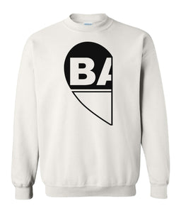 white BAE matching unisex Valentines day sweatshirt for couples