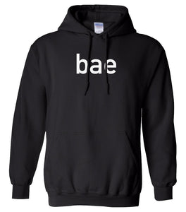 black BAE hooded sweatshirt for women