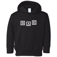 Load image into Gallery viewer, black BAE hooded sweatshirt for toddlers