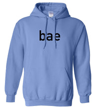 Load image into Gallery viewer, blue BAE hooded sweatshirt for women