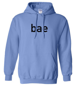 blue BAE hooded sweatshirt for women