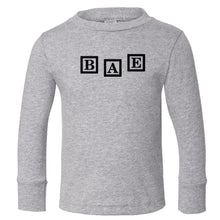 Load image into Gallery viewer, grey BAE long sleeve t shirt for toddlers
