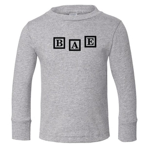 grey BAE long sleeve t shirt for toddlers