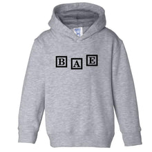 Load image into Gallery viewer,  grey BAE hooded sweatshirt for toddlers