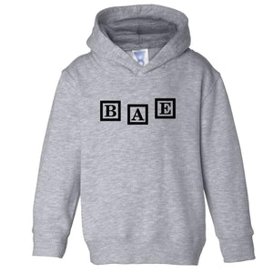 grey BAE hooded sweatshirt for toddlers