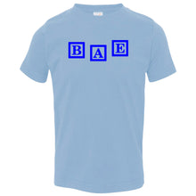 Load image into Gallery viewer, blue BAE crewneck t shirt for toddlers