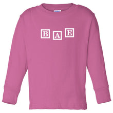 Load image into Gallery viewer, pink BAE long sleeve t shirt for toddlers