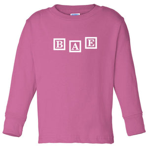 pink BAE long sleeve t shirt for toddlers
