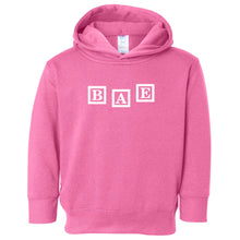 Load image into Gallery viewer, pink BAE hooded sweatshirt for toddlers