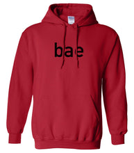 Load image into Gallery viewer, red BAE hooded sweatshirt for women