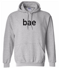 Load image into Gallery viewer, grey BAE hooded sweatshirt for women