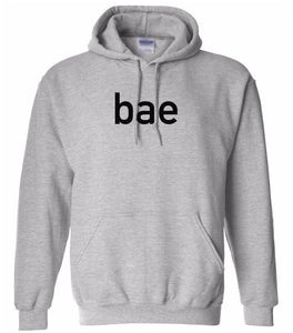 grey BAE hooded sweatshirt for women