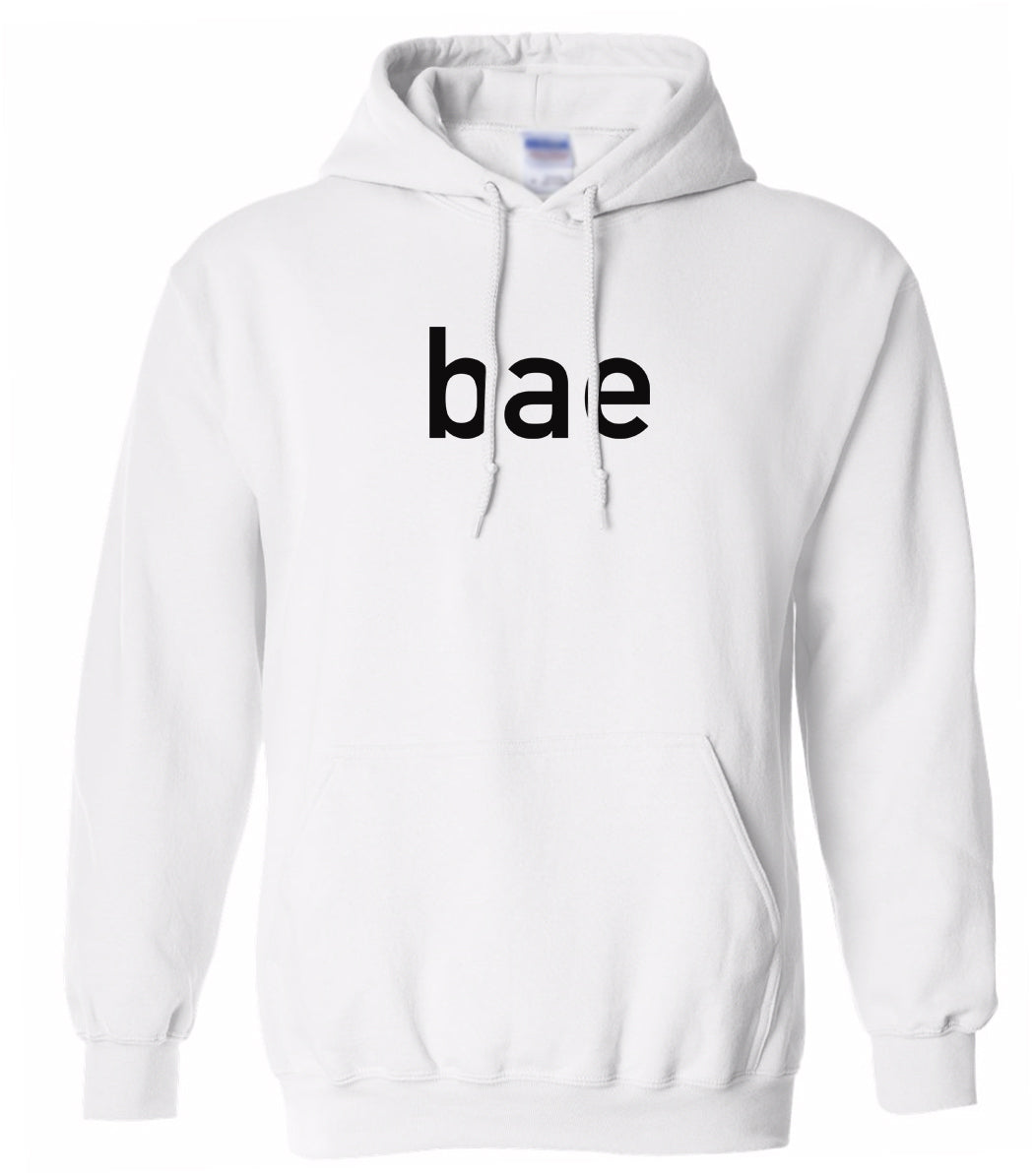 white BAE hooded sweatshirt for women