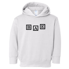 Load image into Gallery viewer, white BAE hooded sweatshirt for toddlers