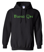 Load image into Gallery viewer, black bang on St Patricks Day hoodie