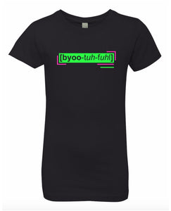 florescent green beautiful neon streetwear t shirt for girls