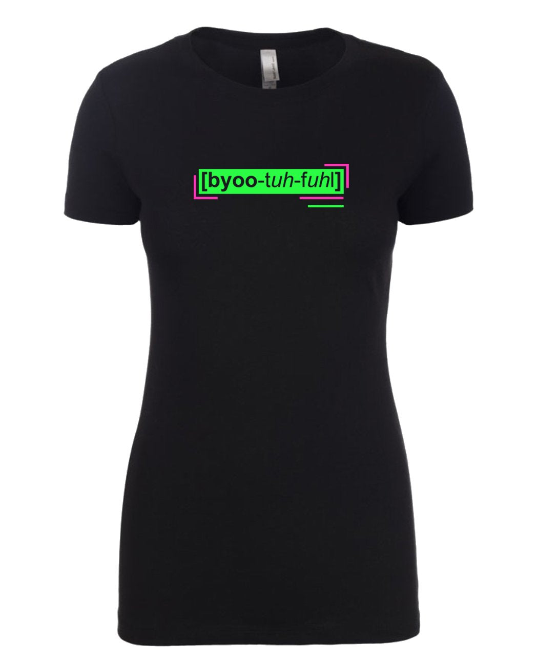 florescent green beautiful neon streetwear t shirt for women