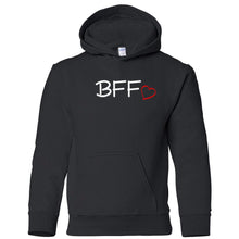 Load image into Gallery viewer, black BFF youth hooded sweatshirts for girls