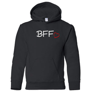 black BFF youth hooded sweatshirts for girls