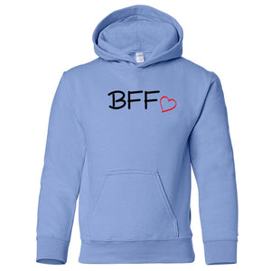 blue BFF youth hooded sweatshirts for girls