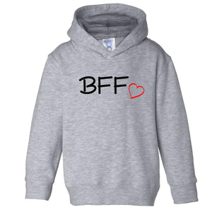 grey BFF hooded sweatshirt for toddlers