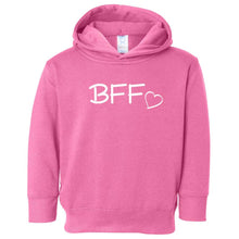 Load image into Gallery viewer, pink BFF hooded sweatshirt for toddlers