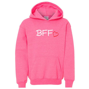 pink BFF youth hooded sweatshirts for girls