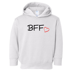 white BFF hooded sweatshirt for toddlers