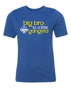 big bro to a little gangsta youth tee shirt