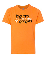 Load image into Gallery viewer, big bro to a little gangsta youth tee shirt