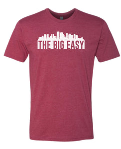 red New Orleans big easy t-shirt