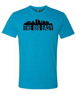 turquoise New Orleans big easy t-shirt
