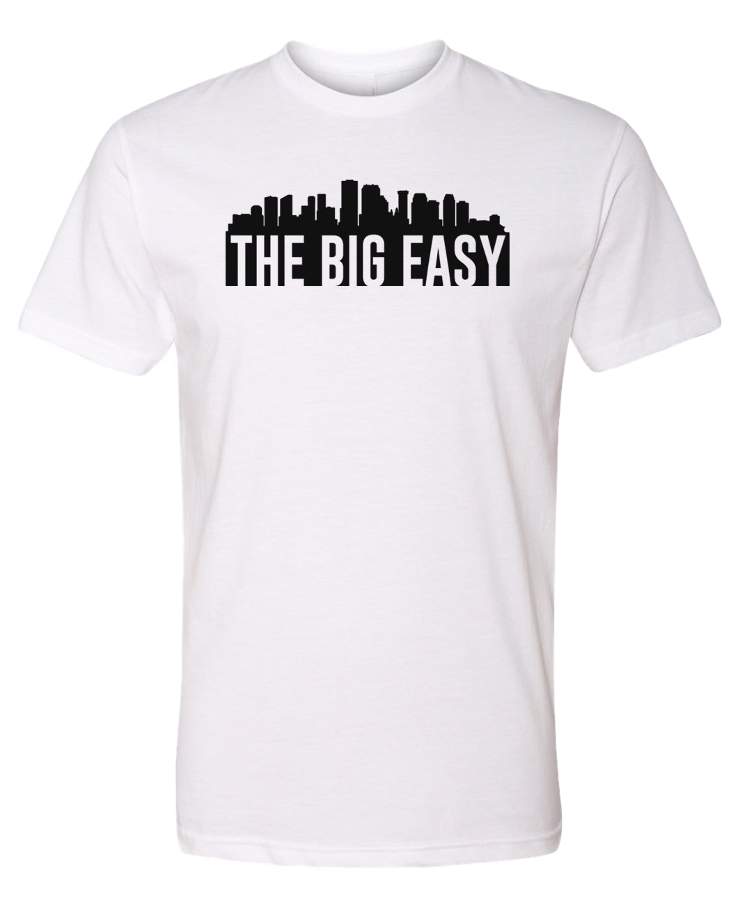 white New Orleans big easy t-shirt