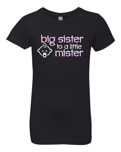 big sister to a little mister youth t-shirt