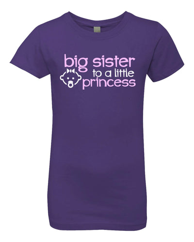 big sister to a little princess youth t-shirt