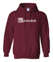 Load image into Gallery viewer, maroon bizsnatch pullover hoodie