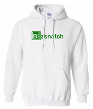 Load image into Gallery viewer, white bizsnatch pullover hoodie