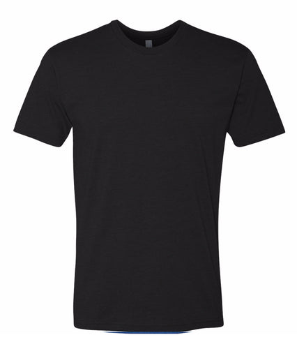 black crewneck t shirt