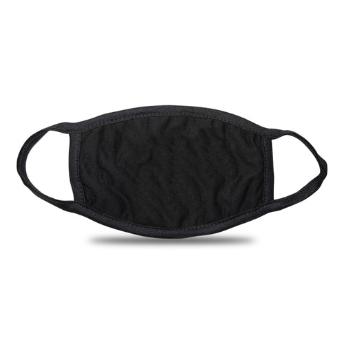 Customizable Black Fabric Face Mask