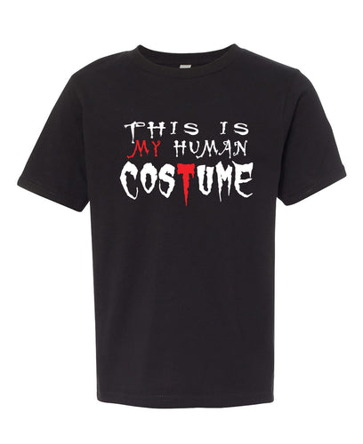 human costume halloween youth tee shirt