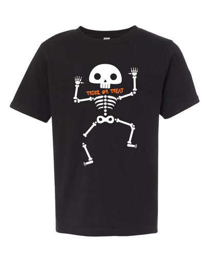 trick or treat halloween youth tee shirt