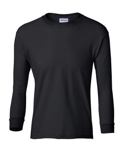 black youth long sleeve t shirt