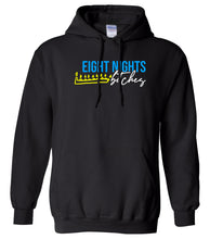Load image into Gallery viewer, black 8 nights Hanukkah Hooded Sweatshirt