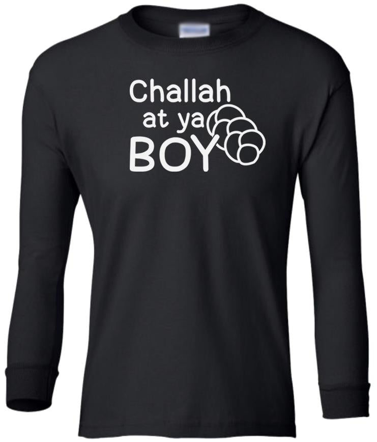 black challah long sleeve toddler Hanukkah t shirt